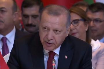 "Erdogan: ""1,000 sq/m area has been cleared from the occupation of terrorists in northern Syria"""
