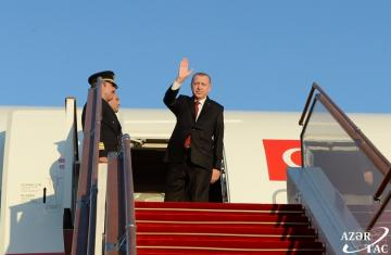 Turkish President's visit to Azerbaijan ends