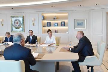 Prezident İlham Əliyevin yanında iqtisadi müşavirə keçirilib