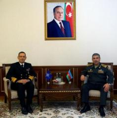 Azerbaijan Defense Minister meets with Head of Partnerships Directorate of NATO/SHAPE