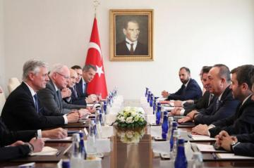 Turkish FM meets top US Security Adviser O'Brien