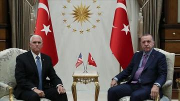Meeting of Turkish president, US vice president ends