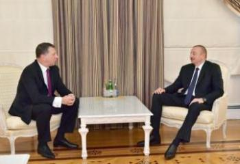 Azerbaijani President meets with former Latvian President