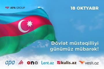 Исполняется 28 лет со дня восстановления независимости Азербайджана