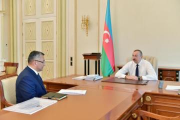 President Ilham Aliyev receives Chairman of the State Committee for Affairs of Refugees and IDPs