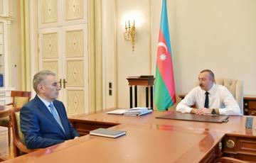 President Ilham Aliyev receives Deputy PM Ali Hasanov as he submitted his resignation letter