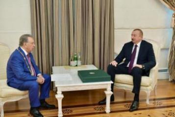 President Ilham Aliyev receives Ramiz Mehdiyev