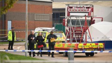 Police find nine people alive in back of truck in Kent, England