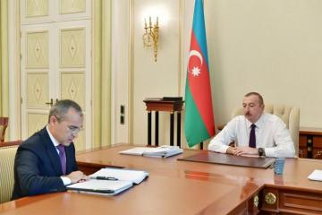 President Ilham Aliyev received Mikayil Jabbarov in connection with his appointment to new post