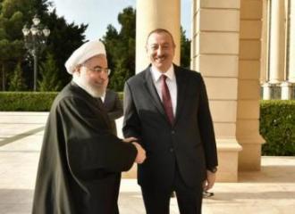 Azərbaycan və İran prezidentlərinin görüşü olub