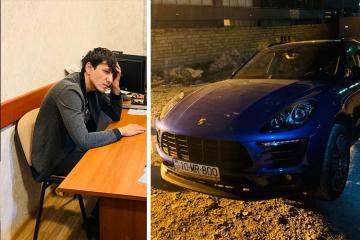"""Bakıda """"Porsche"""" ilə avtoxuliqanlıq edən sürücü saxlanılıb - [color=red]FOTO[/color] - [color=red]VİDEO[/color]"""