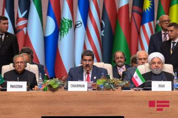 """Venezuelan President: """"One more goal on establishment of NAM was to prevent armed conflicts"""""""