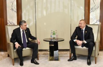 Azərbaycan və Türkmənistan prezidentlərinin görüşü olub