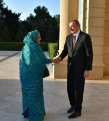 Президент Ильхам Алиев принял премьер-министра Бангладеш