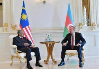 Prezident İlham Əliyev Malayziyanın Baş Nazirini qəbul edib