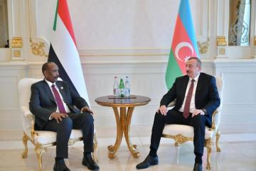 Azerbaijani President meets with Chairman of Sovereign Council of Sudan