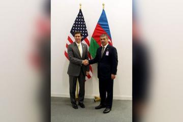 Azerbaijan and US Defense Ministers meet in Brussels