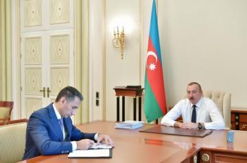 """Prezident İlham Əliyev """"Azərkosmos"""" ASC-nin sədrini qəbul edib"""