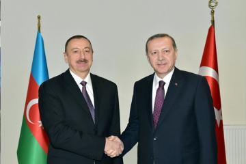 Prezident İlham Əliyev Rəcəb Tayyib Ərdoğanı təbrik edib