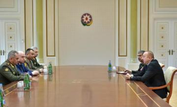 Prezident İlham Əliyev MDB Müdafiə Nazirləri Şurasının iclasının iştirakçılarını qəbul edib