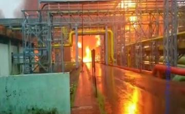 Four killed in massive fire at oil and gas processing plant in Mumbai