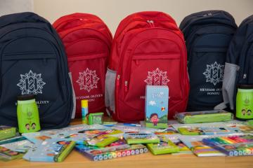 First class students of families with low income to be provided with school supplies by Heydar Aliyev Foundation