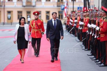 Hungarian and Georgian Presidents meet