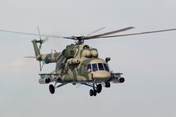 Military Mi-8 helicopter crashes in Russia