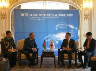 Deputy Minister of Defense of Azerbaijan meets with his South Korean counterpart