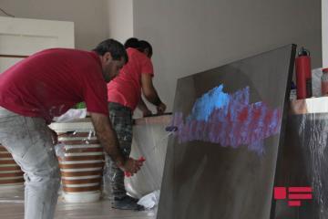 """Qəbələdə tanınmış rəssamların iştirakı ilə """"Art Zone Week"""" adlı simpozium başlayıb  - [color=red]FOTO[/color]"""