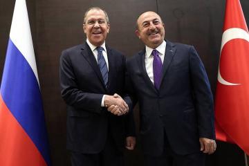 Çavuşoğlu Lavrovla Suriyadakı vəziyyəti müzakirə edib