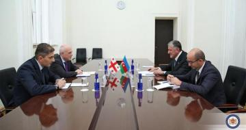 """Georgian FM presented with medal of """"100th Anniversary of the Diplomatic Service Bodies of Azerbaijan"""""""