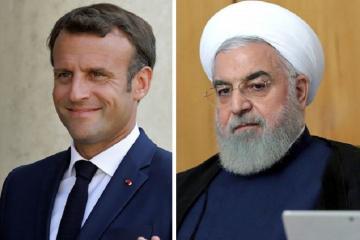 Makron və Ruhani İranın nüvə sazişi öhdəliklərindən danışıb