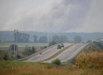 Explosions hit ammo depots in Ukraine's Kalynivka