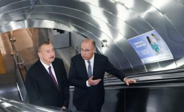 """Prezident İlham Əliyev metronun """"Xətai"""" stansiyasında görülən işlərlə tanış olub - [color=red]YENİLƏNİB[/color]"""