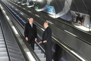 Президент Ильхам Алиев ознакомился с работой, проведенной на станции «Хатаи» Бакинского метрополитена