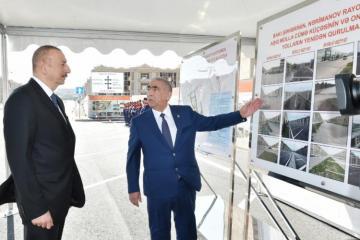 Prezident İlham Əliyev Nərimanov rayonunda yenidən qurulan yolların açılışında iştirak edib