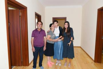 First Vice-President Mehriban Aliyeva viewed new house built instead of quake-damaged one in Shamakhi