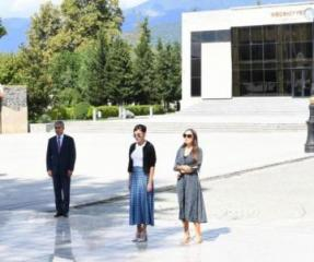 First Vice-President Mehriban Aliyeva arrived in Ismayilli district for visit