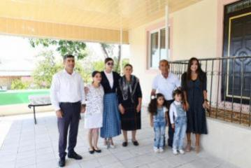 First Vice-President Mehriban Aliyeva viewed new house built instead of quake-damaged one in Mughanli village