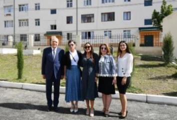 First Vice-President Mehriban Aliyeva attended opening of kindergarten in Ismayilli