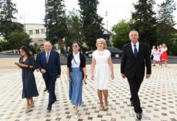 First Vice-President Mehriban Aliyeva attended inauguration of reconstructed Palace of Culture in Ivanovka village