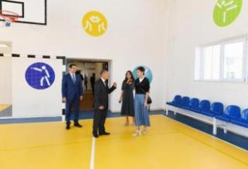 First Vice-President Mehriban Aliyeva attended opening of Malikchobanli village secondary school
