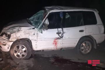 В Гобустане автомобиль упал с моста, есть погибший - [color=red]ФОТО[/color]