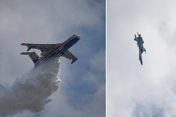 Су-35 продемонстрировал возможности в небе над Стамбулом