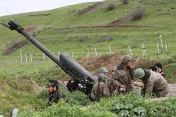 Armenians conduct exercises at the occupied territories of Azerbaijan