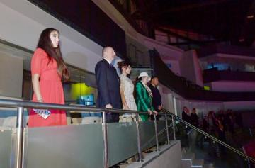 Azerbaijani President and first lady attended the opening ceremony of 37th FIG Rhythmic Gymnastics World Championships