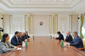 President Ilham Aliyev receives delegation led by Turkish VP
