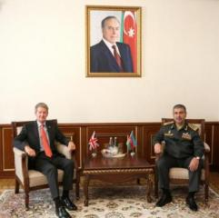 Azerbaijan Minister of Defense meets with newly appointed British Ambassador