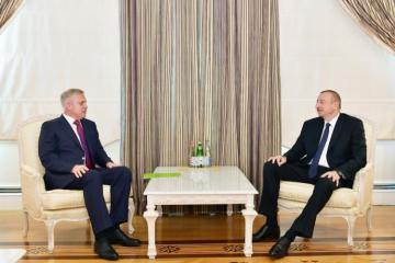 Президент Ильхам Алиев принял делегацию во главе с госсекретарем Совбеза Беларуси